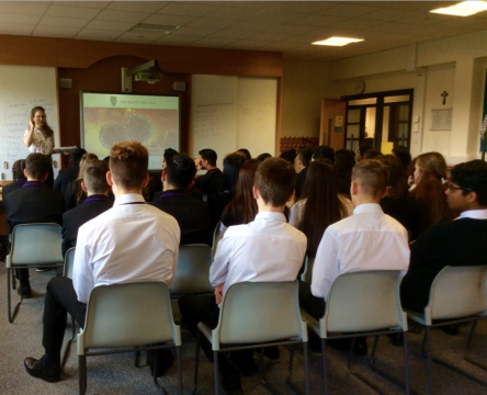 50 of the incredibly able (advanced) higher maths students discussing mathematics with me